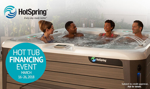 Hot tub financing event at San Diego Hot Spring Spas