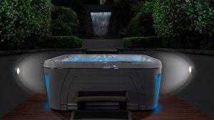 Serenity-4300-Hot-Tub-Installation--Night